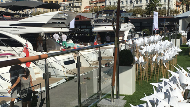 The World Premiere of our Princess 49 is making a splash at Cannes Yachting Festival!