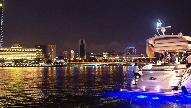 On-Water World Premiere of Princess S60 at Louis Vuitton Jetty, Marina Bay