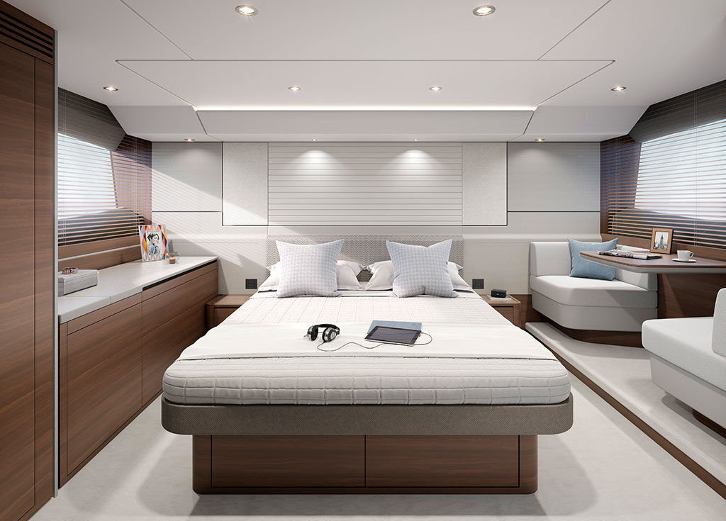 Princess-55-interior-owners-stateroom-walnut-satin