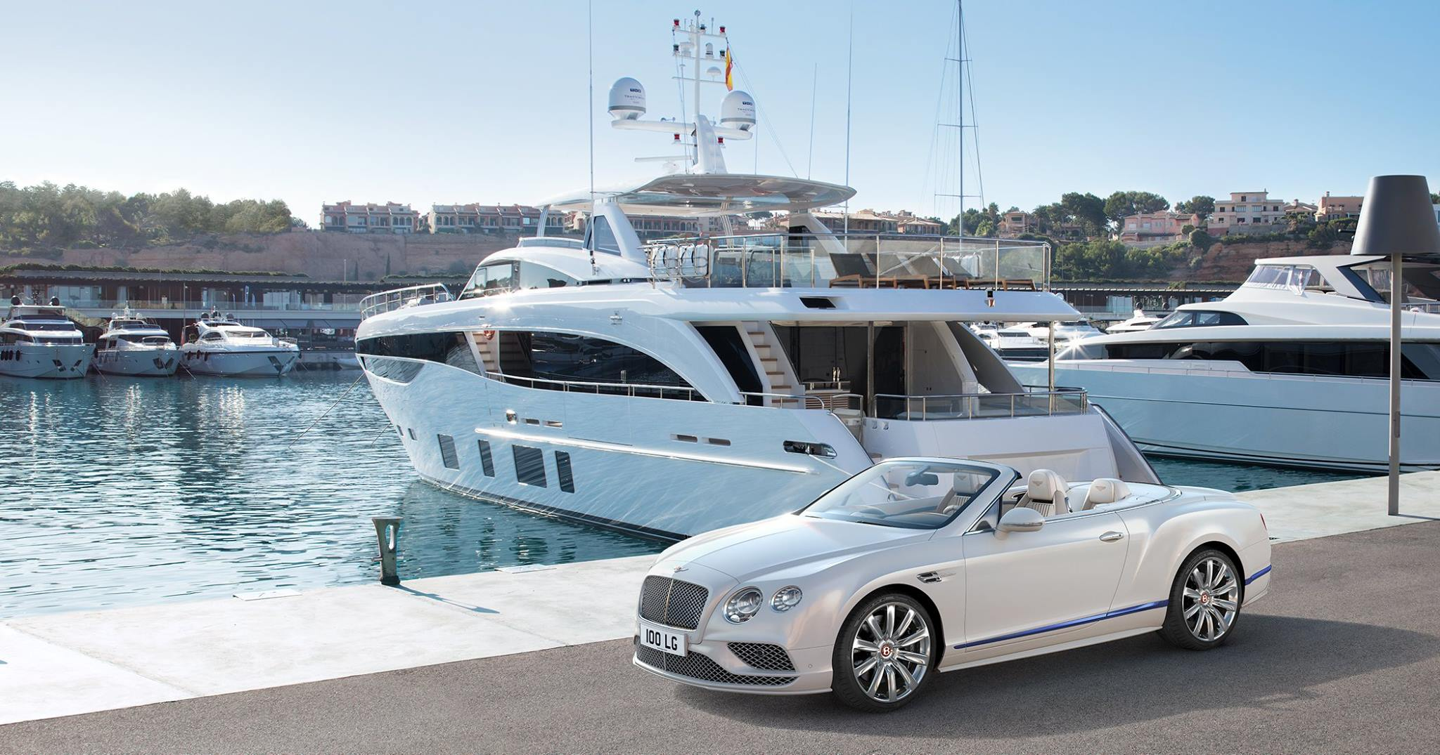 The Continental GT V8 Convertible Galene Edition by Mulliner, inspired by Princess Yachts