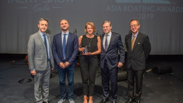 "The new PRESTIGE 520 S awarded at the ""Asia Boating Awards 2019"""