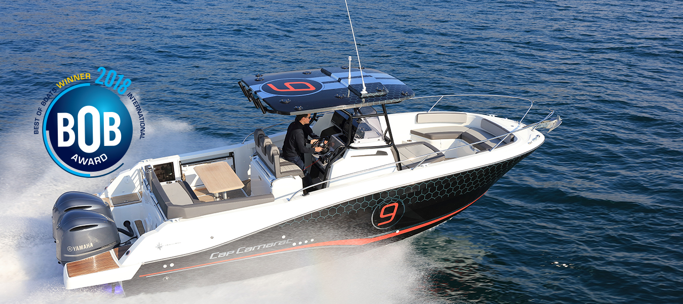 "Cap Camarat 9.0 CC,  winner in the category ""best for fun"" in the 2018 best of boats awards"