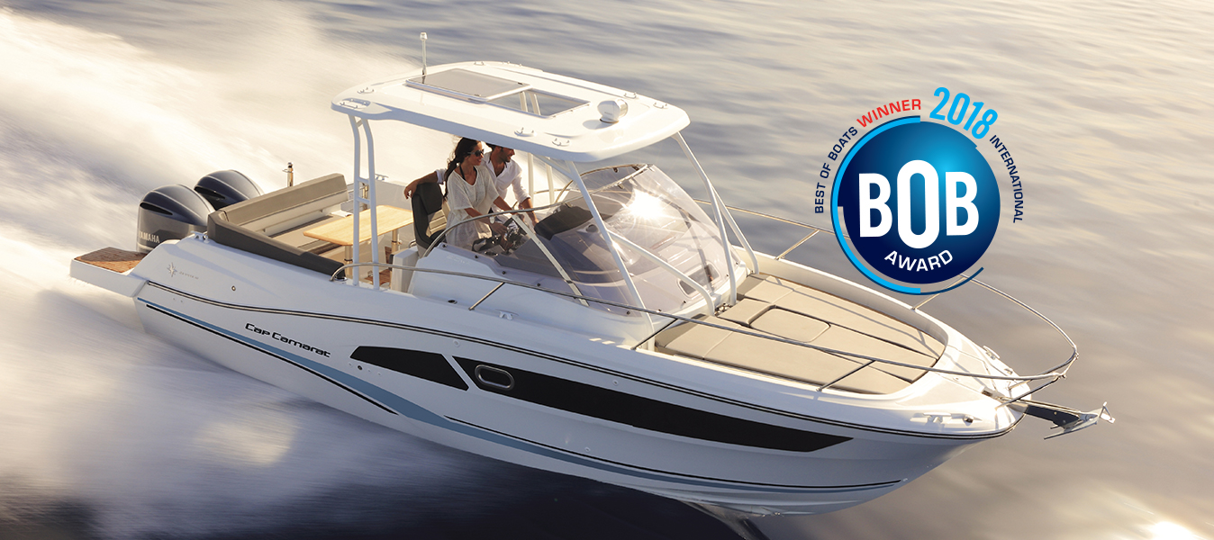"Cap Camarat 9.0 WA, winner in the category ""best for fun"" in the 2018 best of boats awards"