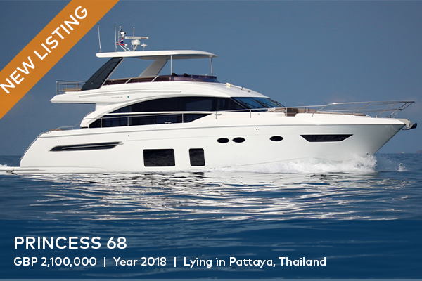 2018 PRINCESS 68 FOR SALE | AVAILABLE VIEWINGS AT OCEAN MARINA YACHT CLUB, PATTAYA