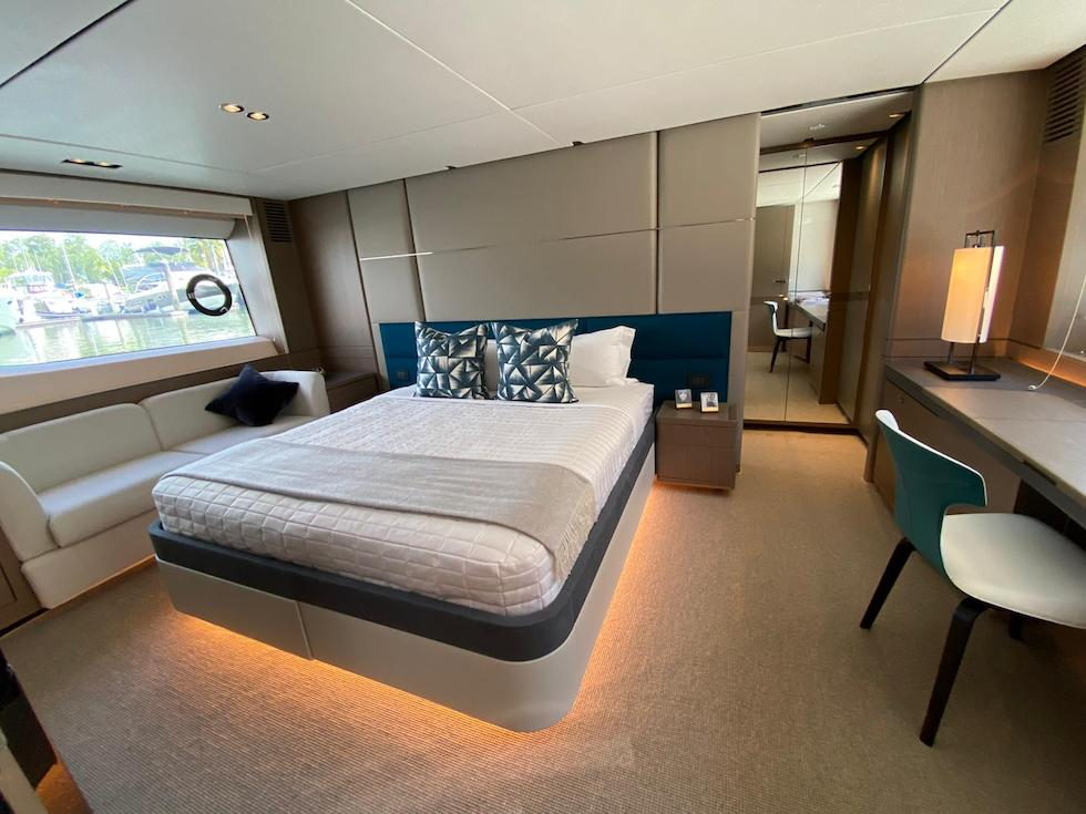 Master Cabin with a bed